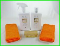 "Autoglym Leather Cleaner & Care Balm ""KIT"" with Brush and 2 M/F Cloths"