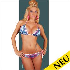 NEU 🌸 Sexy REDIAL Neckholder BIKINI Triangel Blau Lila Beachwear 🌸 34 36 38
