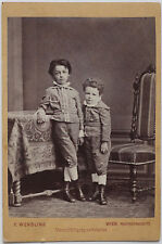Superb VINT.1860s albumen CC two brothers by F. WENDLING