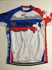 Men's RUSSIA Cycling Jersey Retro Short Sleeve Bike Racing XL Read Description
