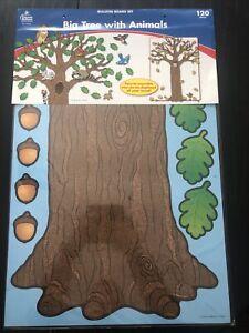 Big Tree with Animals Bulletin Board Set. Free Shipping!
