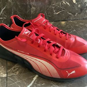 Puma Ferrari Speed Cat Super Lite Running Shoes Men's Size 10 Red Black White