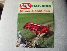 1969 Gehl Hay King Mower Conditioner Brochure