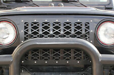 Custom Steel Aftermarket Front Grille Kit for Jeep Wrangler Rubicon TJ 97-06 BLK
