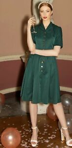 NWT LINDY BOP SAVANNAH FOREST GREEN DRESS CHRISTMAS DAY OUTFIT SIZE 8 16 18