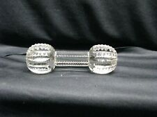 Clear Crystal Glass-Bar Bell Shaped Carving Knife Rest with Saw Tooth Design