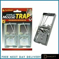 Metal Mouse Rat Traps Mice Rodent Pest Control Trap 2 PACK