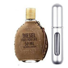 DIESEL FUEL FOR LIFE MEN EDT 5ML SPRAY SILVER *