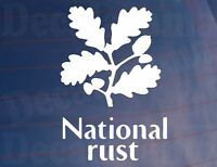 Car Sticker NATIONAL RUST Funny Novelty Van Window Bumper Boot Decal Rat Look