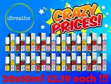 iBreathe Liquid 20x10ml 6mg 12mg 18mg All Premium Flavours E