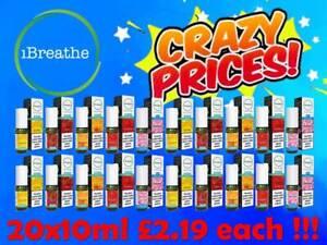 20x iBreathe Liquid 20x10ml 6mg 12mg 18mg All Premium Flavours E