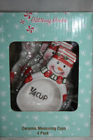 Ceramic Snowman Measuring Cups Set Of Four BNIP From Glittering Goodies
