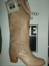 Frye Jackie Button Tall Leather Boots #76577 Light Tan 11M Women Knee High New