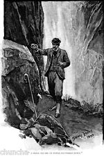 Sherlock Holmes leaves a note for Dr. Watson in an 1893 drawing by Sidney Paget
