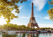 366x254cm papier peint photo mural Tour Eiffel Paris France salle à manger décor