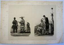 PARIS: CANTON, BARBIER CHINOIS.....,VOYAGE INDE ET CHINE, 1830,  GRAVURE