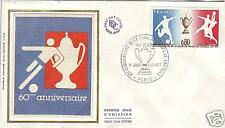 1940+ FDC ENVELOPPE1er JOUR SOIE ANNIV.COUPE FOOT BALL
