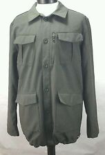 Adidas Mens Military Jacket Coat Olive Green Large Rare