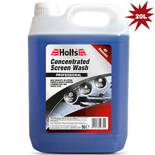 20L HOLTS Concentrate Car Windscreen Window Cleaning Fluid Screen Wash All Year