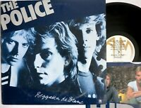 Police REGGATTA DE BLANC lp 1979 A&M SP-4792 printed insert WALKING ON THE MOON