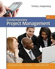Contemporary Project Management by Timothy Kloppenborg (2011, Hardcover)