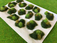 Green Rolling Dales Tuft Dioramas - Model Scenery Static Grass Wargame Railway