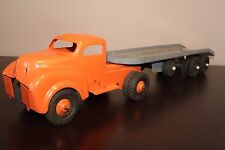 Lincoln Toy Transport Truck & Trailer - Car Hauler- Flat Bed - Canada