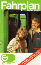 Fahrplan Hannover Winter 1984/85