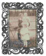 Clayre&Eef Bilderrahmen silber Strass Fotorahmen Rahmen Vintage 9 x13 cm 51848
