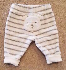 CARTER'S NEWBORN STRIPED TERRY CLOTH BEAR PANTS ADORABLE REBORN