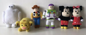 Disney Crossy Road Plush - Woody, Buzz, Mickey, Polka Dot Minnie, BayMax, Simba
