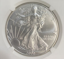 2000 American Eagle Silver Dollar / 1 Oz / NGC MS69 / Mint State 69