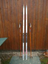 """New listing Ready To Use Cross Country 81"""" Fischer 210 Cm Skis + Sns Profil Binding + Poles"""