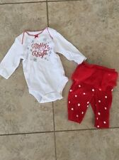 Carter's Baby Girl Christmas Outfit Size Newborn