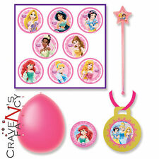 37 Piece Disney Princess Pink Balloon Wand Birthday Party Game & Award Stickers