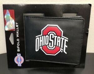 OHIO STATE Buckeyes Bi-Fold Wallet Black w/ Large Logo NCAA Licensed NEW