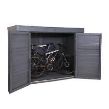 B-Ware 2er-Fahrradgarage MCW-H63 Gerätehaus abschließbar 150x204x100cm anthrazit