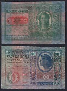 Austria / Ungheria 100  kronen 1912 BB/VF  A-06