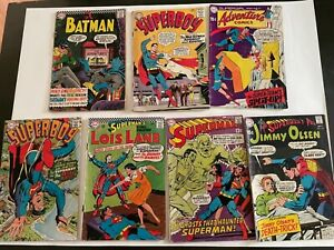 Superman Batman Superboy Robin supergirl adventure Lot of 7 Silver Age DC Comics