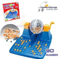 Tombola Bingo lotto 72 cartelle 90 numeri ruota tombolone gioco di gruppo