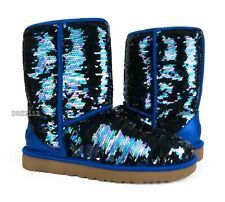 307bd830c1139 UGG Australia Classic Short Sequin Navy Sparkles Boots Womens Size 8  NIB