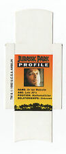 Bassett Barratt Jurassic Park Candy stick slide mint unfolded Dr Malcolm Profile