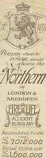 Antico Segnalibro Northern of London & Aberdeen 1905