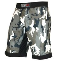 ZOR Camo Pro MMA Fight Shorts Camouflage UFC Cage Fight Grappling Muay Thai Boxing Army Camouflage Colour Urban Camouflage
