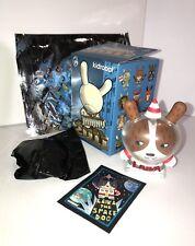 Kidrobot Dunny 2011 Art Toy Laika Space Dog astronauat with Sealed Kronk Bone
