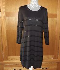 FENN WRIGHT MANSON brown Angora/Cashmere blend sequined jumper dress size 16