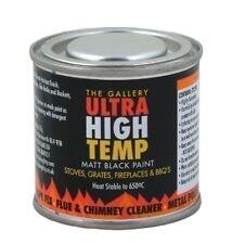 650c Ultra High Temperature Matt Black Paint Stove Grate Fire BBQ 120ml Gallery
