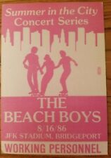 Beach Boys 1986 Backstage Pass Jfk Stadium
