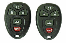 2 New Keyless Remotes with Remote Start for Chevrolet Malibu and Cobalt