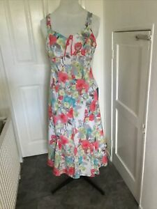 """PER UNA  DRESS SIZE 10L FULLY LINED . 46""""LONG. COTTON"""